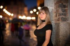 Retrato del adolescente en la ciudad vieja de Gdansk Fotos de archivo