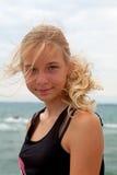Retrato del adolescente en la playa Imagen de archivo libre de regalías