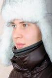Retrato del adolescente en ropa del invierno Imagenes de archivo