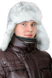 Retrato del adolescente en ropa del invierno Imagen de archivo