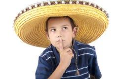 Retrato del adolescente en un sombrero Fotos de archivo libres de regalías