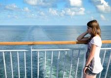 Retrato del adolescente en un transbordador Fotos de archivo libres de regalías