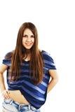 Retrato del adolescente feliz de la muchacha Fotos de archivo