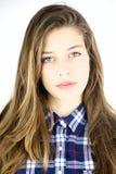 Retrato del adolescente femenino rubio lindo Imagen de archivo libre de regalías