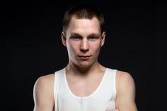 Retrato del adolescente rubio Imagen de archivo