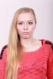 Retrato del adolescente rubio, encantador Fotografía de archivo