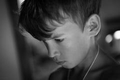 Retrato del adolescente serio triste Imagen de archivo