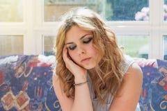 Retrato del adolescente triste Fotografía de archivo