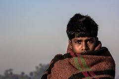 Retrato del aldeano de la India Imagenes de archivo