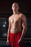 Retrato del atleta ruso Imagen de archivo libre de regalías
