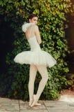 Retrato del bailarín atractivo de la mujer en luz del sol Foto de archivo libre de regalías