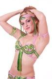 Retrato del bailarín de vientre Imagenes de archivo