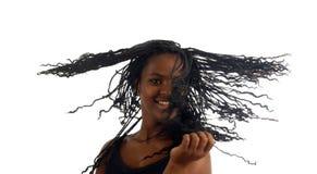 Retrato del baile negro joven de la mujer del adolescente Fotografía de archivo libre de regalías