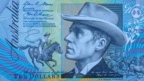 Retrato del banjo reverendo Paterson del australiano 10 dólares imagen de archivo