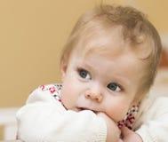 Retrato del bebé de 9 meses. Fotografía de archivo
