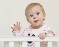 Retrato del bebé de 9 meses. Imagen de archivo