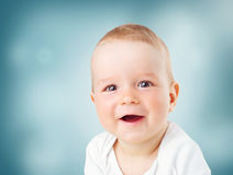 Retrato del bebé de nueve meses Fotografía de archivo