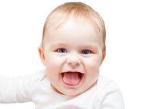 Retrato del bebé de ojos azules Fotos de archivo libres de regalías