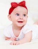 Retrato del bebé de seis meses interior Imagen de archivo libre de regalías