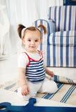 Retrato del bebé de un año Fotografía de archivo libre de regalías