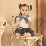 Retrato del bebé de un año sonriente Fotografía de archivo libre de regalías