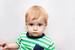 Retrato del bebé del trastorno Imagenes de archivo