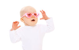 Retrato del bebé divertido fotografía de archivo libre de regalías