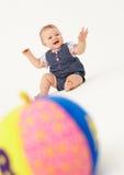 Retrato del bebé feliz Imagen de archivo libre de regalías