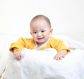 Retrato del bebé feliz imagen de archivo