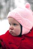Retrato del bebé que pone mala cara Fotos de archivo libres de regalías