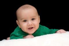 Retrato del bebé sonriente Foto de archivo libre de regalías