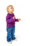 Retrato del bebé que mira para arriba Imagenes de archivo