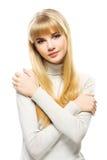 Retrato del blonde de fascinación de los jóvenes Fotografía de archivo libre de regalías