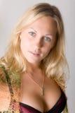 Retrato del blonde hermoso Fotografía de archivo libre de regalías