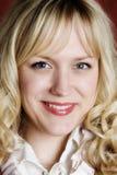 Retrato del blonde sonriente Foto de archivo