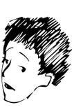 Retrato del bosquejo del vector de un adulto Foto de archivo libre de regalías
