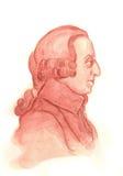 Retrato del bosquejo del Watercolour de Adán Smith ilustración del vector