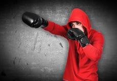 Retrato del boxeador Imágenes de archivo libres de regalías