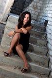 Retrato del brunette Imagenes de archivo