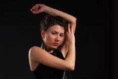 Retrato del brunette Fotografía de archivo