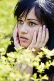 Retrato del brunette atractivo fotografía de archivo libre de regalías