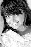 Retrato del brunette de la belleza Imagen de archivo libre de regalías