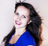 Retrato del brunette de la belleza Fotografía de archivo libre de regalías