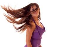 Retrato del brunette hermoso joven Foto de archivo libre de regalías