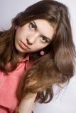 Retrato del brunette joven Imágenes de archivo libres de regalías
