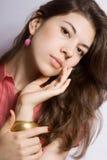 Retrato del brunette joven Imagen de archivo libre de regalías
