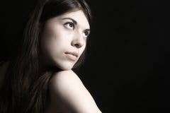 Retrato del brunette joven Fotografía de archivo