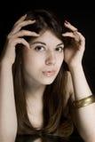 Retrato del brunette joven Imagen de archivo