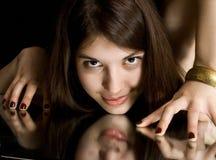 Retrato del brunette joven Fotos de archivo