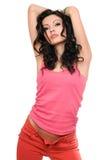 Retrato del brunette joven atractivo. Aislado foto de archivo